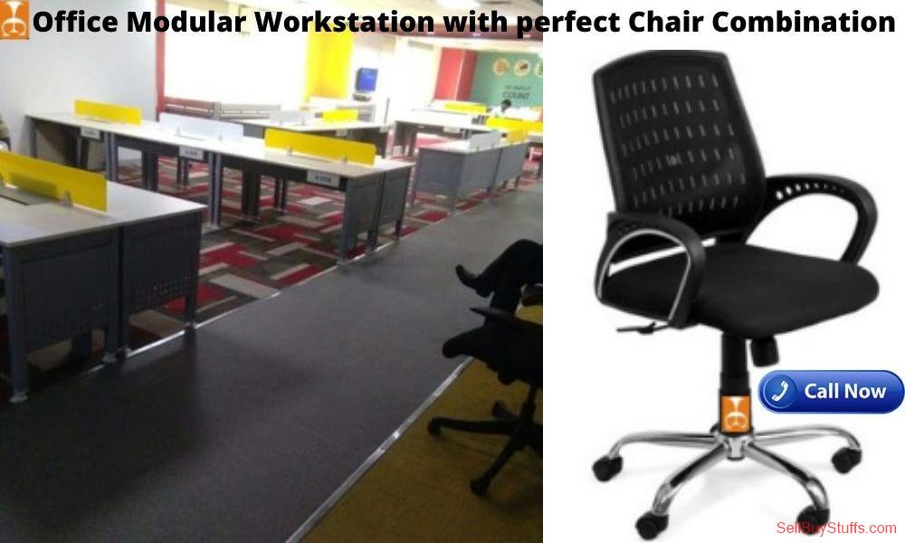 second hand/new: Office Modular Workstation with Perfect Chair Combination