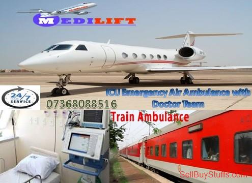 second hand/new: Book Secure Patient Transfer Air Ambulance Services in Patna