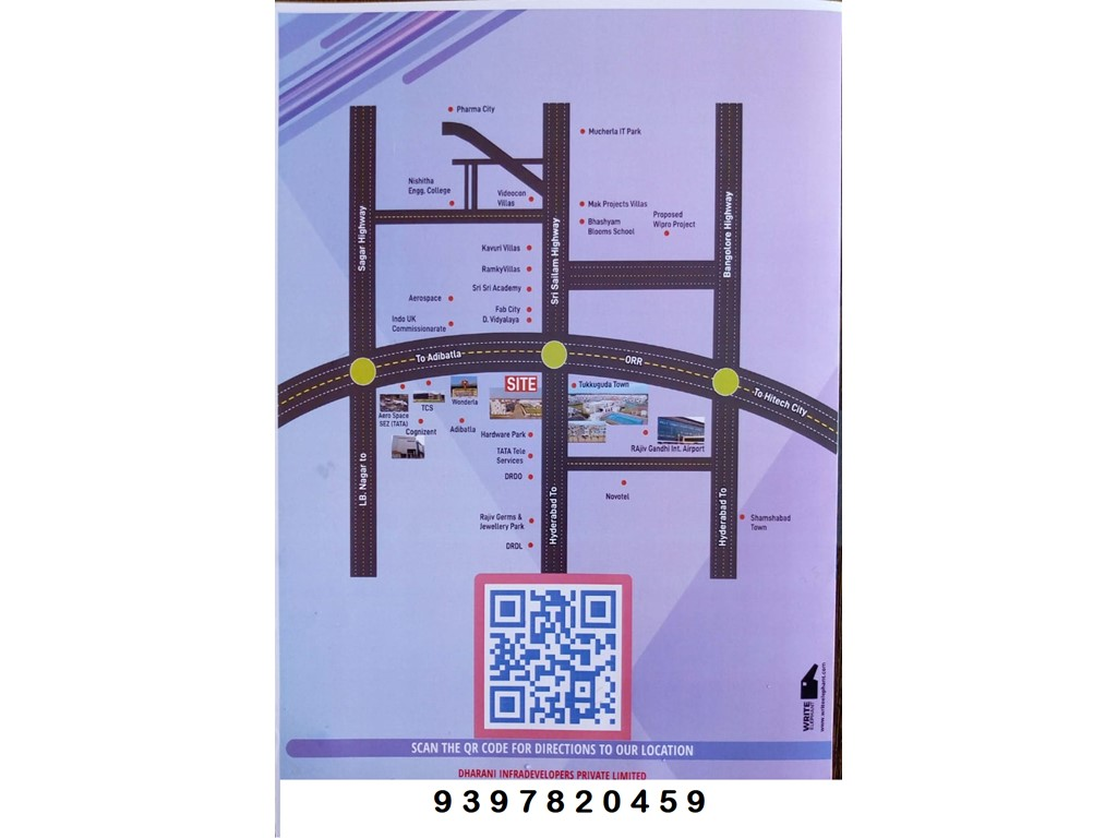 Property/Row houses/Flats: HMDA APPRVD OPEN PLOTS FOR SALES IN TUKKUGUDA ON ORR