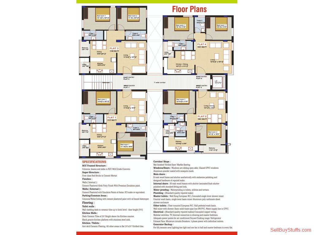 Property/Row houses/Flats: EDEN TOWERS SAKET, ECIL, HYDERABAD