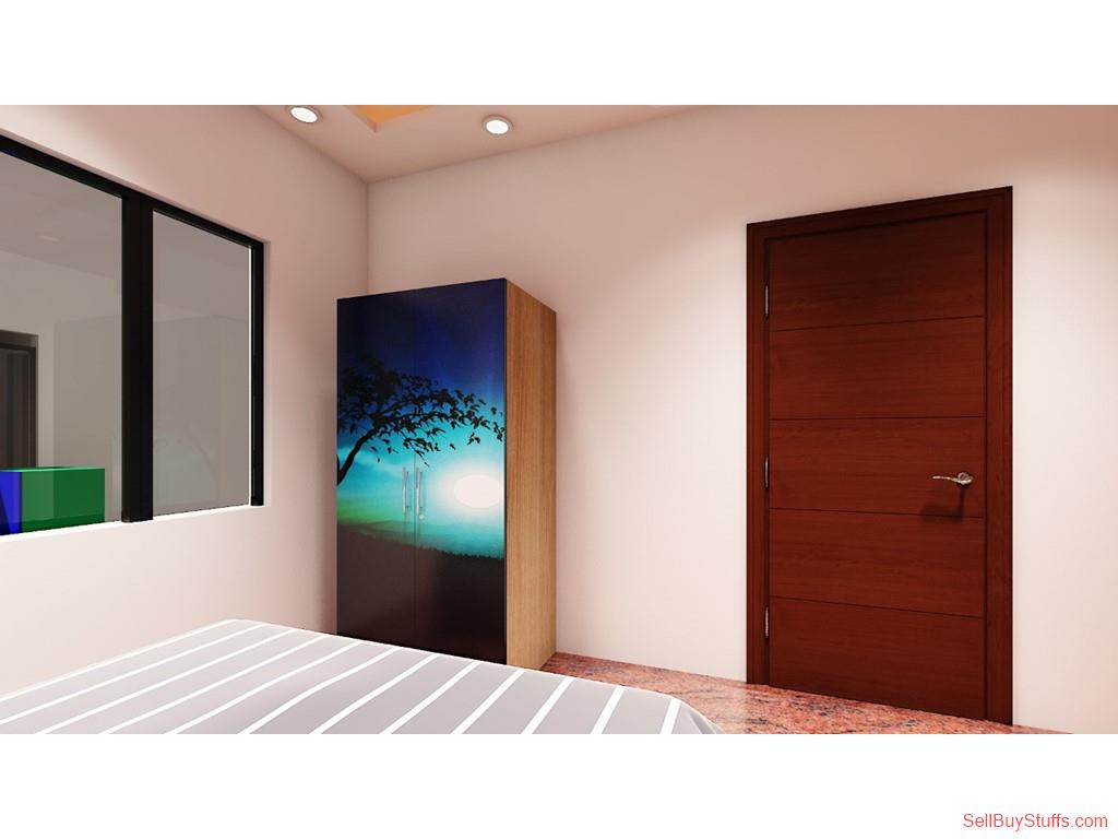Bangalore Double Door Wardrobes with Digital Printed