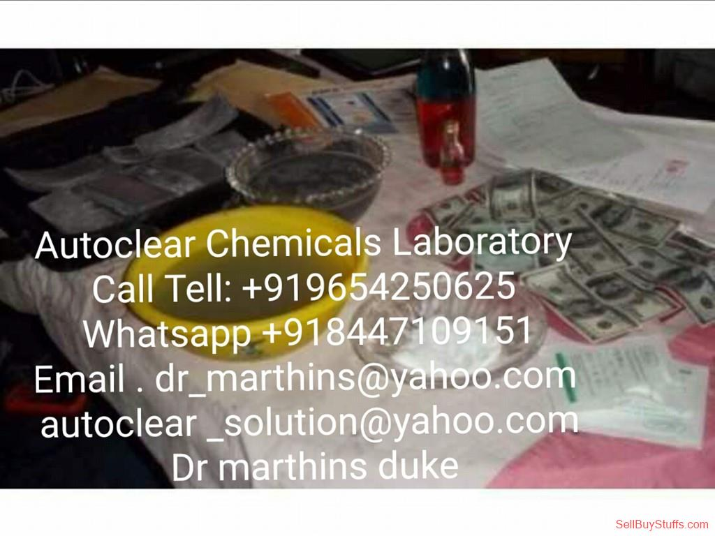 second hand/new:  SSD CHEMICALS AUTOMATIC SOLUTION FOR CLEANING BLACK MONEY