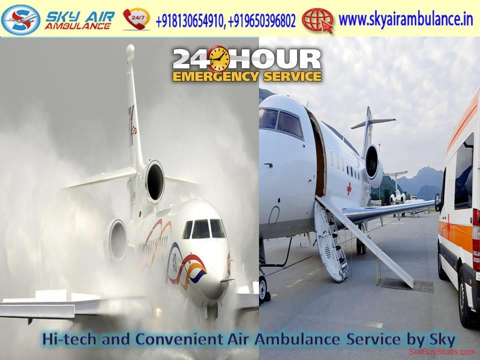 second hand/new: Book Immediately Sky Air Ambulance Service in Varanasi with Specialist Physician