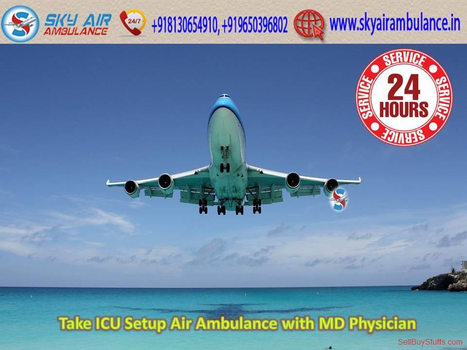 second hand/new: Available ICU Setup Advanced Air Ambulance Service in Darbhanga