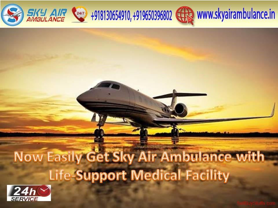 second hand/new: Utilize Full ICU Facility Sky Air Ambulance in Patna at Low-Cost