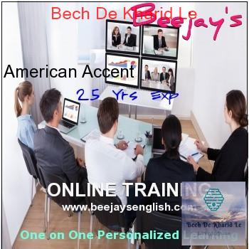 HYDERABAD-TELANGANA Learn Online American Accent with Intl Coach Beejay