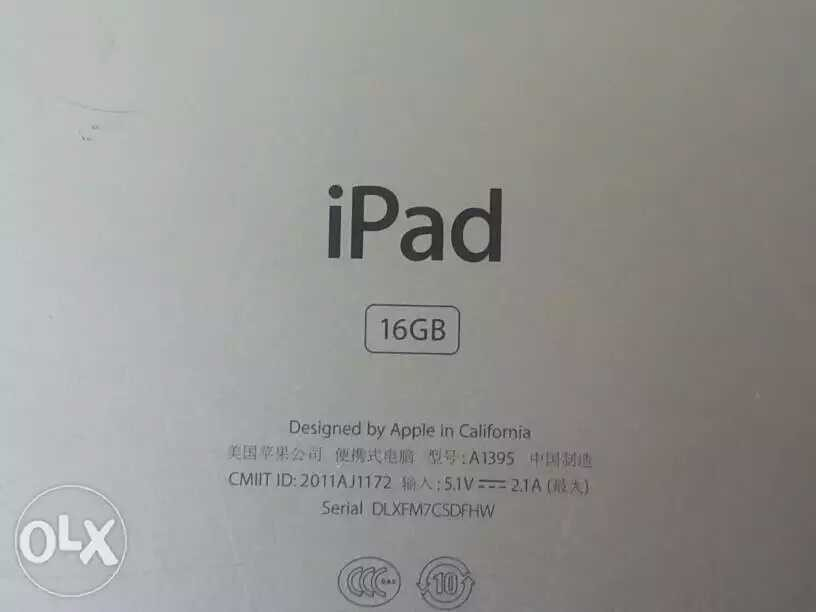 second hand/new: I pad 2