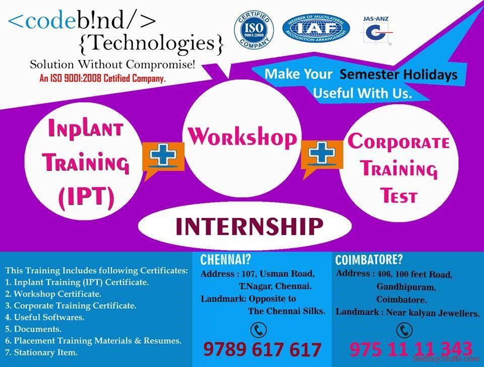 second hand/new: inplant training in coimbatore for cse
