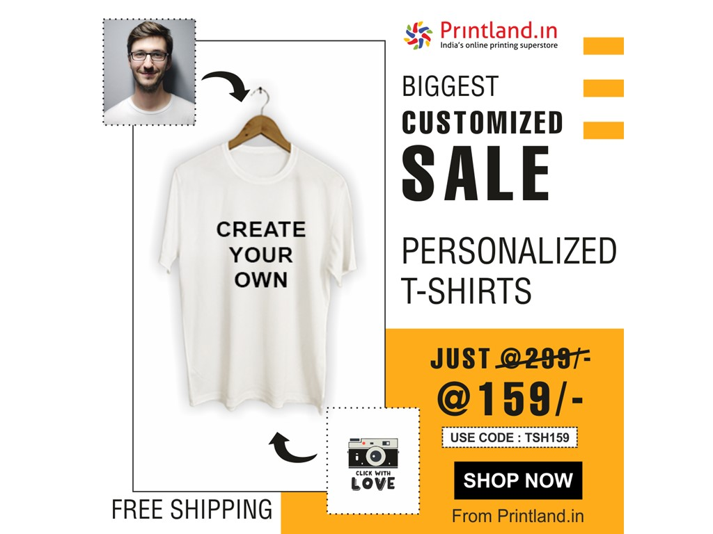 Delhi  Biggest Customized offer - Personalized T-shirts @159/-