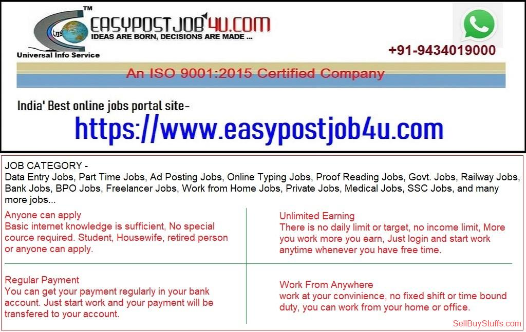 second hand/new: Job, Business, Service, Business Opportunity, Par time Job, Work from home, Offered, Self-Employee