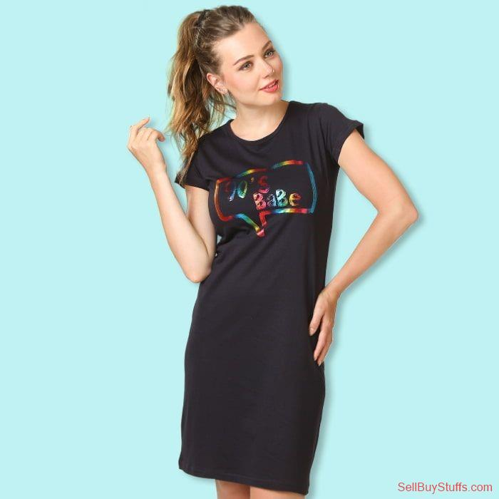 second hand/new: Buy Stylish T-shirt Dress for Girls Online India at Beyoung.